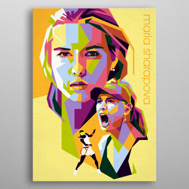 a Russian professional tennis player. A United States resident since 1994, Sharapova has competed on the WTA tour since 2001. metal poster