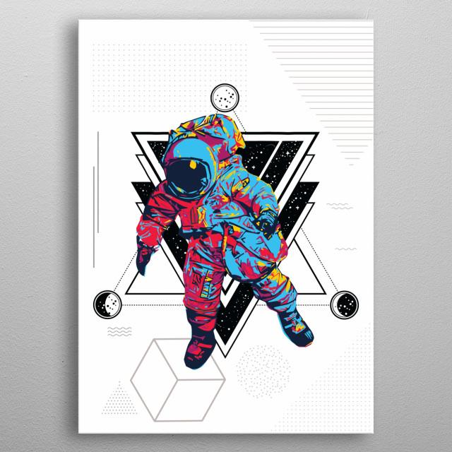 Vector art using different elements. metal poster