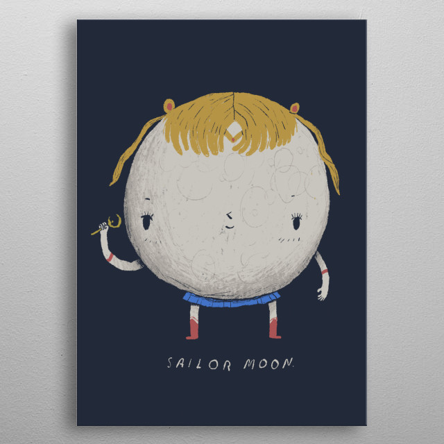 what a real sailor moon looks like. metal poster