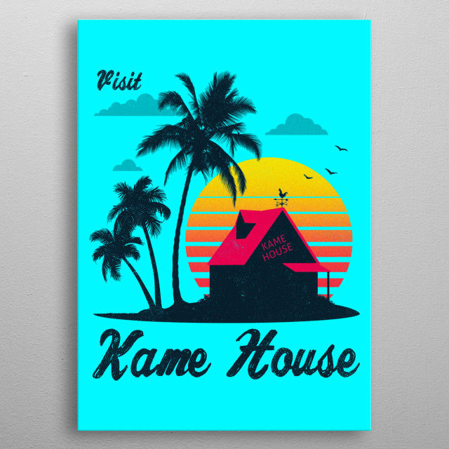 Roshi's House metal poster