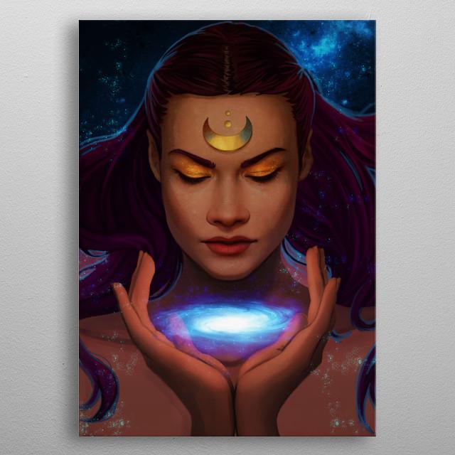 A celestial goddess. metal poster