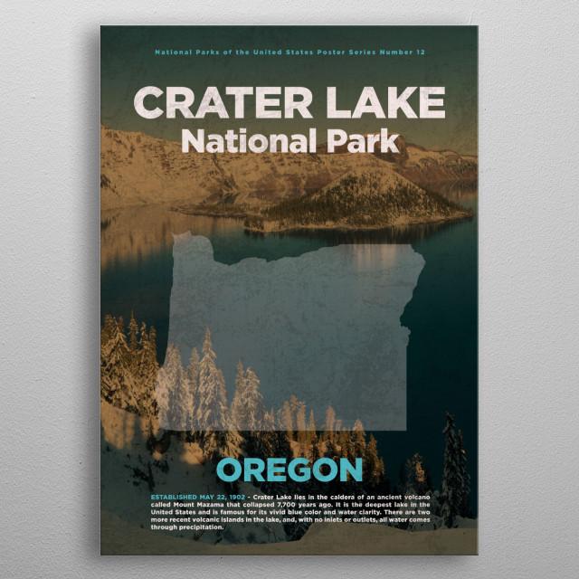 Crater Lake National Park Oregon metal poster