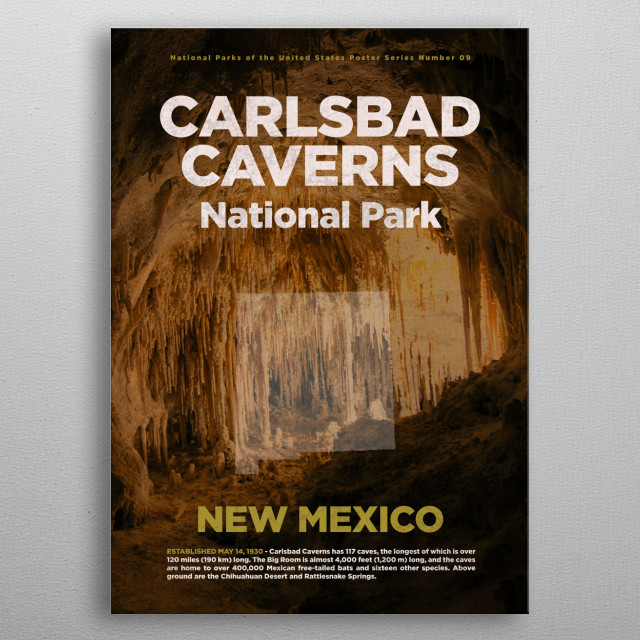 Carlsbad Caverns National Park New Mexico metal poster