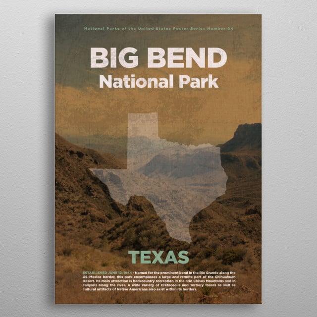 Big Bend National Park Texas metal poster