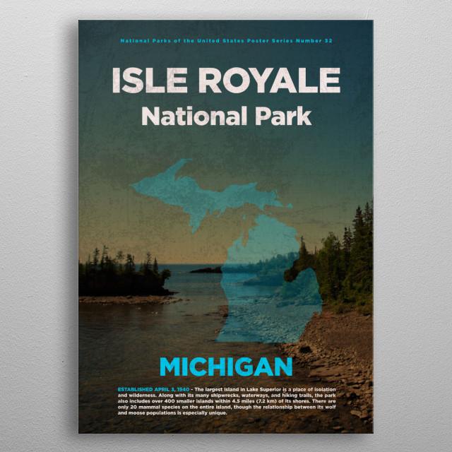 Isle Royale Michigan National Park metal poster