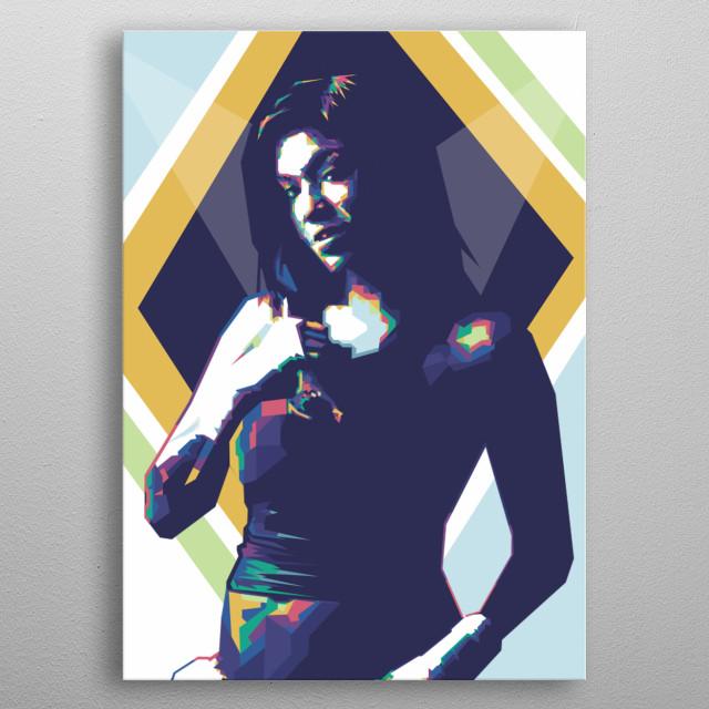 Mia Townsend Pop Art Potrait Colour Full metal poster