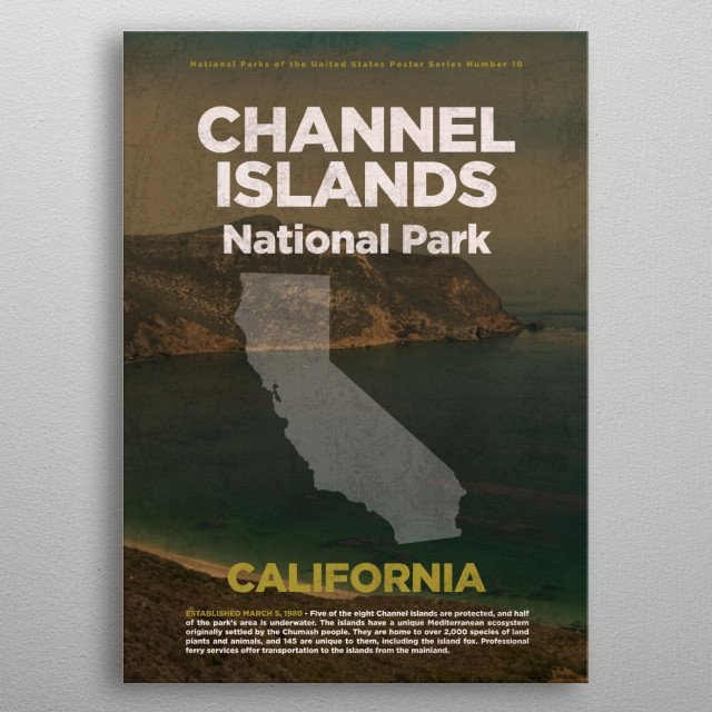 Channel Islands National Park California metal poster