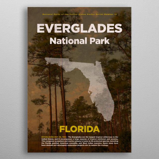 Everglades National Park Florida metal poster