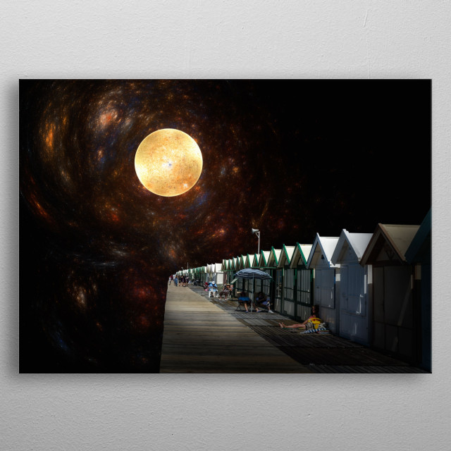 Holidays at the edge of universe metal poster