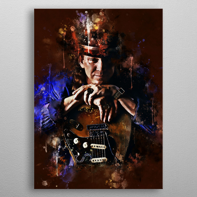 Stephen Ray Vaughan, born in Dallas, Texas, is a blues guitarist from the United States metal poster