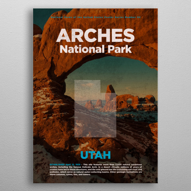 High-quality metal print from amazing National Parks Usa Series collection will bring unique style to your space and will show off your personality. metal poster