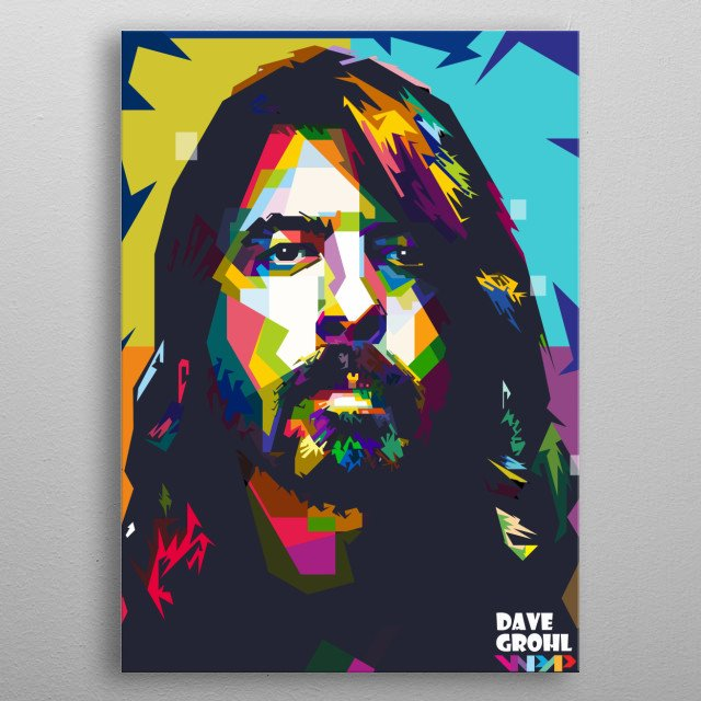 dave grohl is the best (legend) of the nirvana band metal poster