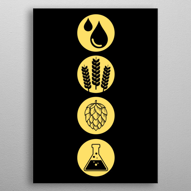 Beer - A collection for beer drinkers and brewers who just love the good taste of a fresh cold blonde metal poster