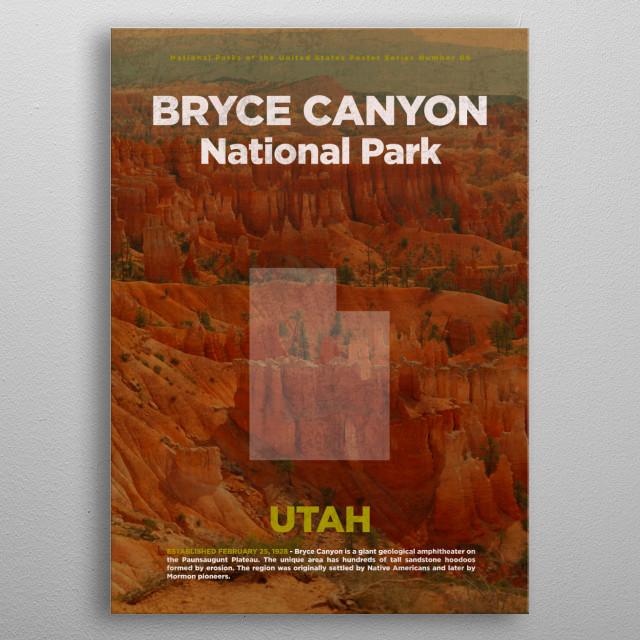 Bryce Canyon National Park Utah metal poster
