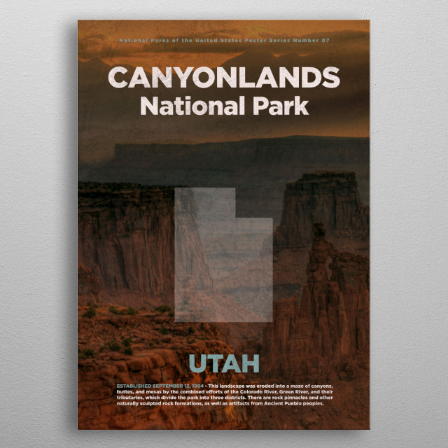 Canyonlands National Park Utah metal poster