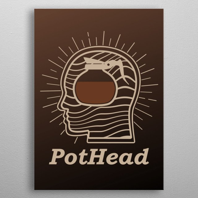 This funny coffee design is perfect for all who love their monday morning coffe. Also a cool christmas or birthday gift. metal poster