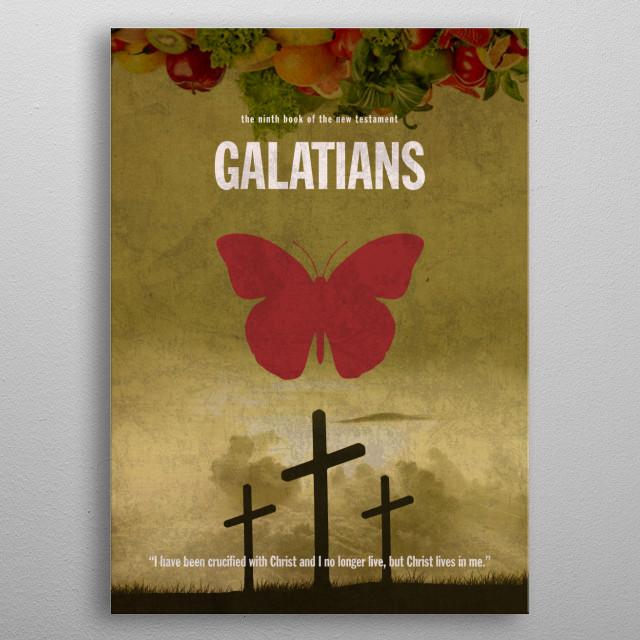 Book of Galatians Paul Epistle Letter metal poster