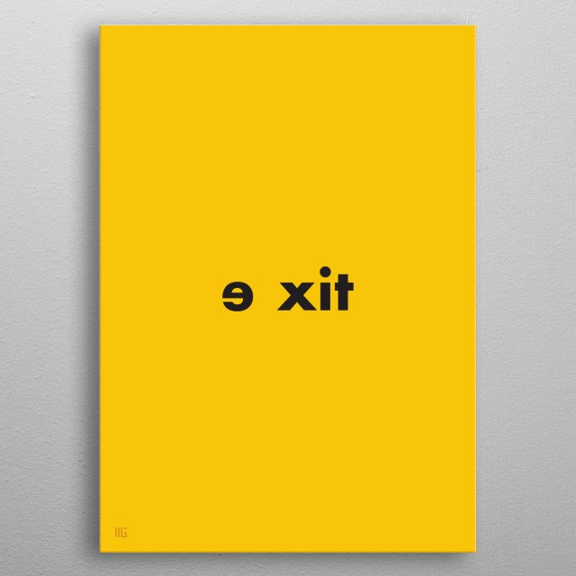 exit metal poster