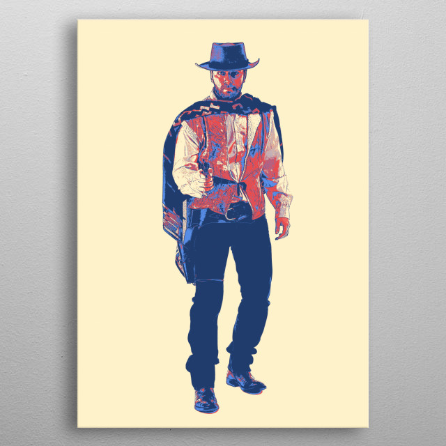 Gunfighters of the Old West metal poster