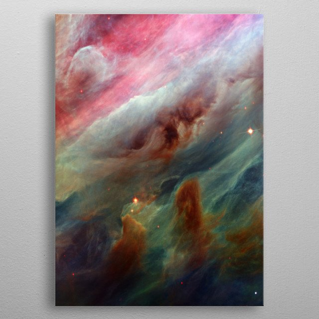 This is a NASA photo of the Orion gas clouds. metal poster
