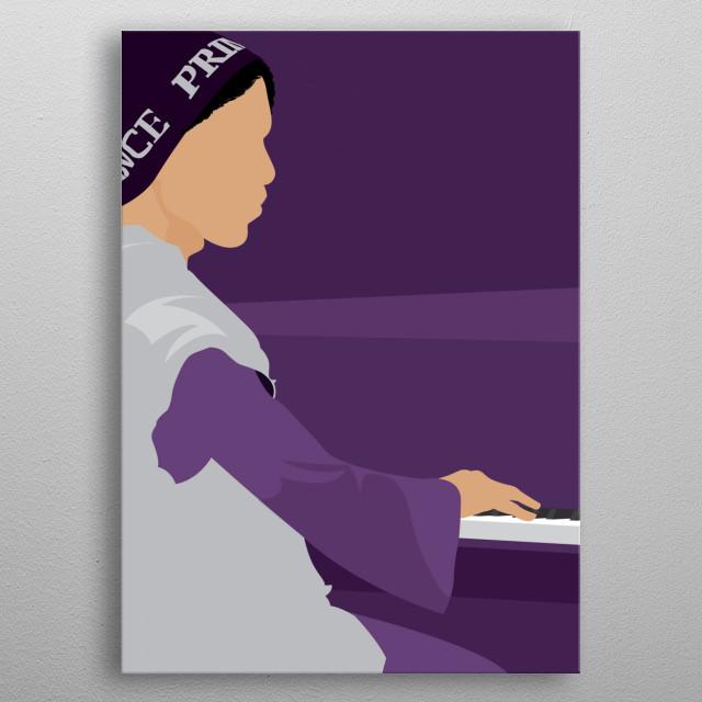 Piano master at work metal poster