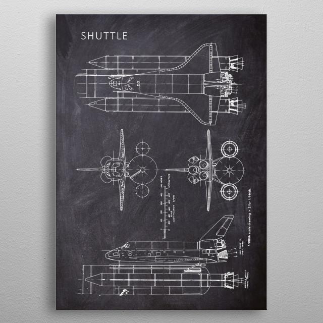 Shuttle metal poster