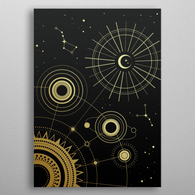 Fascinating metal poster designed by Emanuela Carratoni. Displate has a unique signature and hologram on the back to add authenticity to each design. metal poster