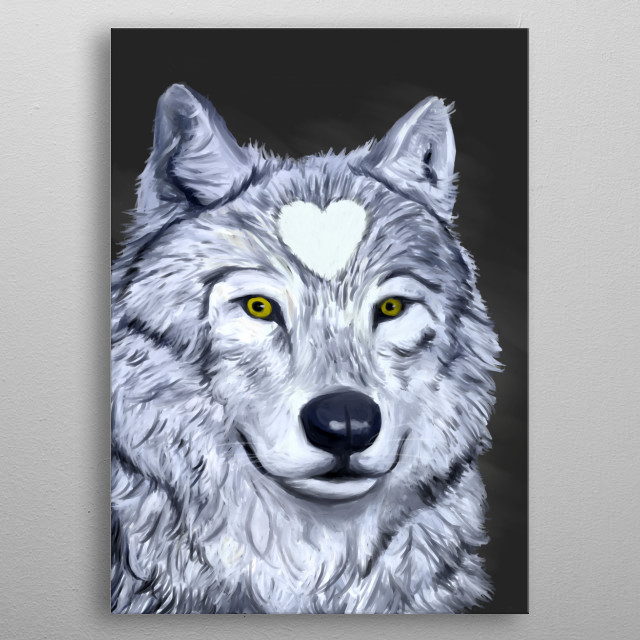 The power of the wolf brings forth instinct, intelligence, appetite for freedom, and awareness of the importance of social connections.  metal poster