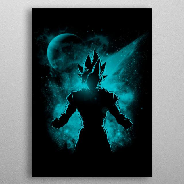 Goku SSJ blue metal poster
