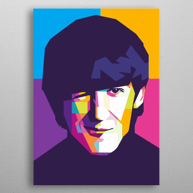 was an English musician, singer-songwriter, music and film producer who achieved international fame as the lead guitarist of the Beatles. metal poster