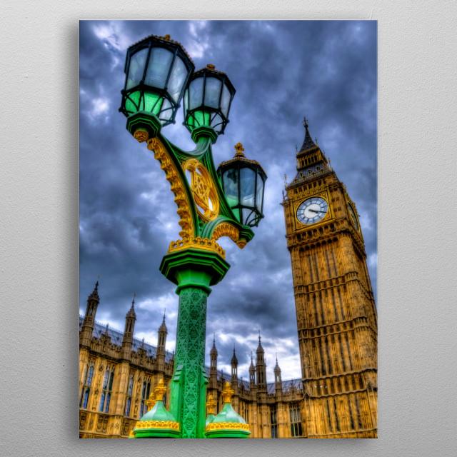 Big Ben in London metal poster