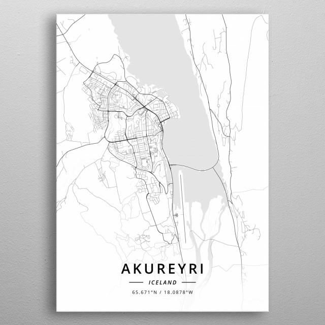 Akureyri, Iceland metal poster
