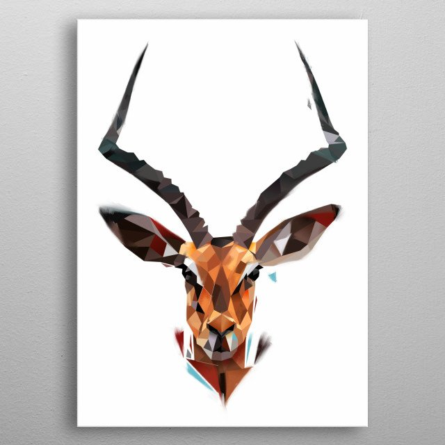 Antelope from modern animals collection metal poster