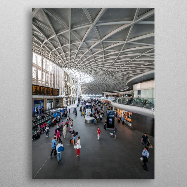 King's Cross railway station, central London metal poster