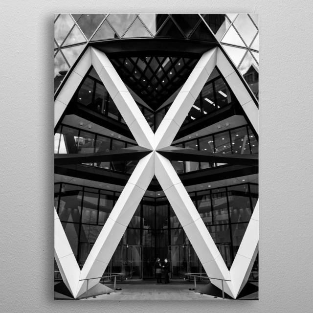 Gherkin Building in London metal poster
