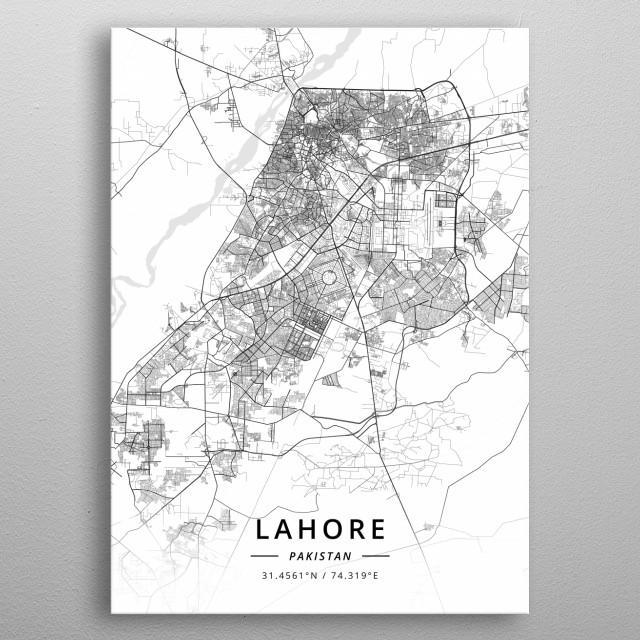 Lahore, Pakistan metal poster