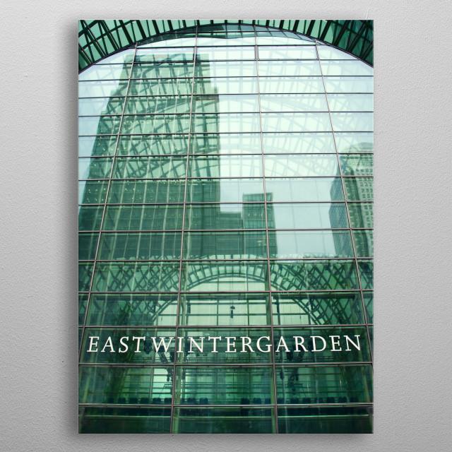 East winter garden building in London metal poster