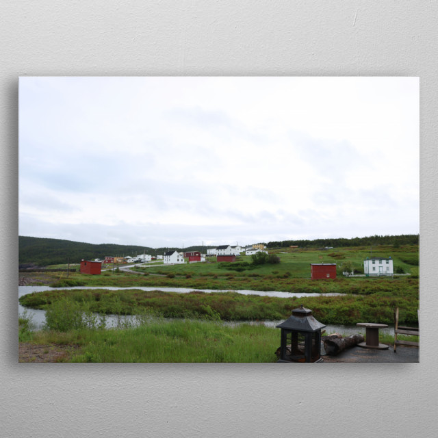 This image is taken on the route to Bonavista in Newfoundland.  metal poster
