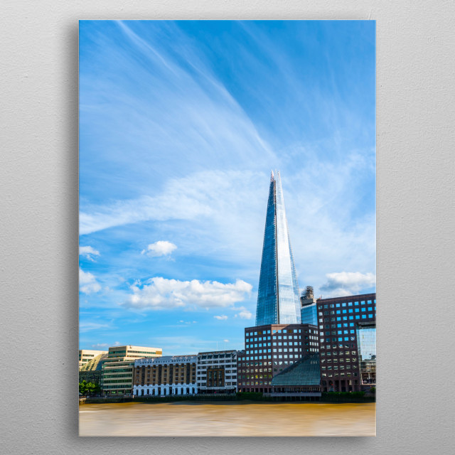 The Shard building in London metal poster