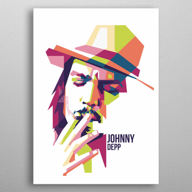 Johnny Depp in WPAP Art  John Christopher Depp II is an American actor, producer and musician.   metal poster