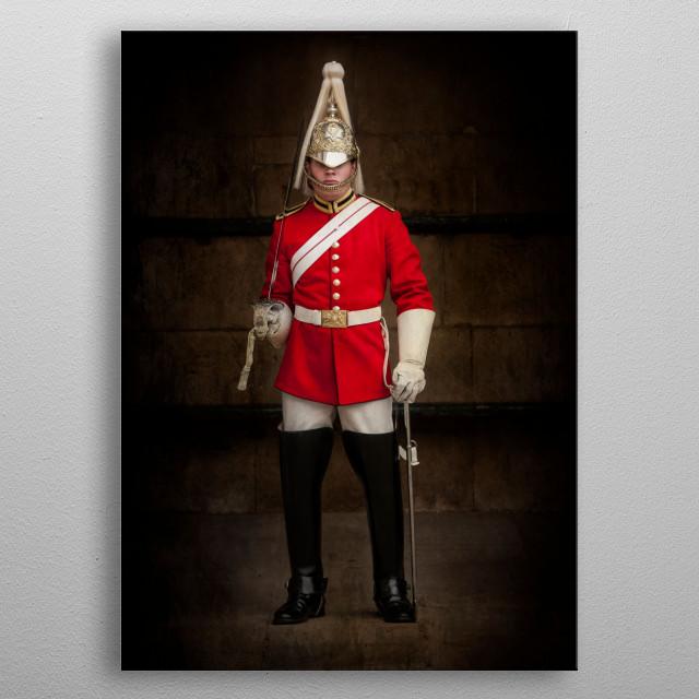 Guard in London metal poster