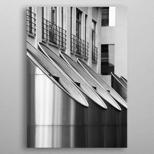 Lloyds building in London metal poster
