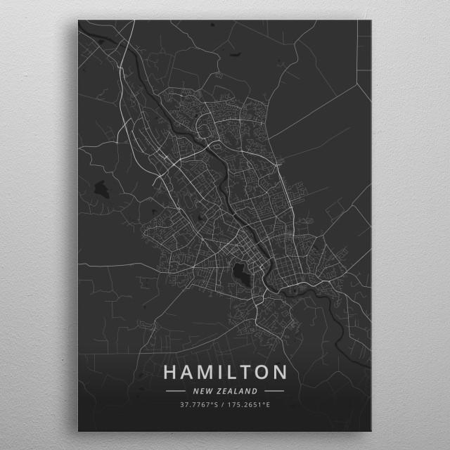 Hamilton, New Zealand metal poster
