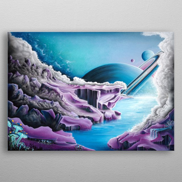 This world I created represents a place of complete serenity and beauty. A world not consumed by humanity, out of our reach and control. metal poster