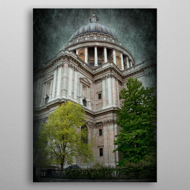St Pauls Cathedral in London metal poster