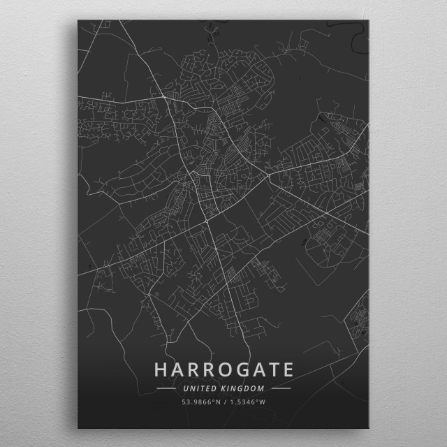 Harrogate, United Kingdom metal poster