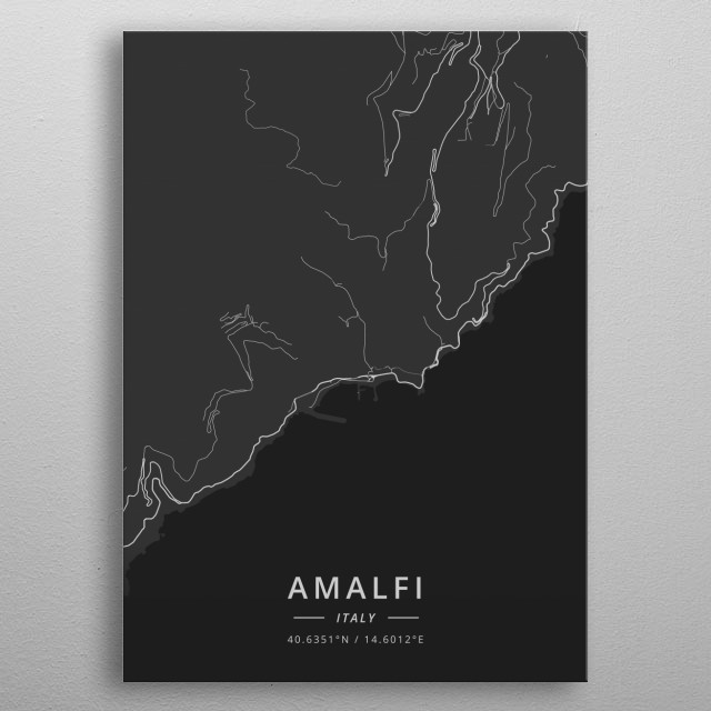 Amalfi, Italy metal poster