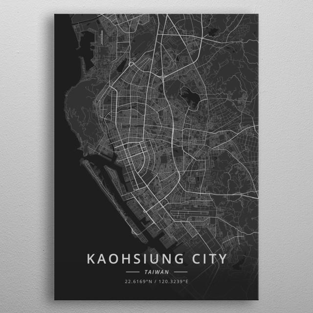 Kaohsiung City, Taiwan metal poster