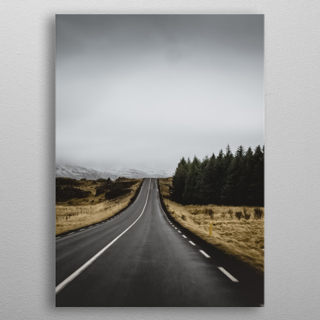 High-quality metal print from amazing Road collection will bring unique style to your space and will show off your personality. metal poster