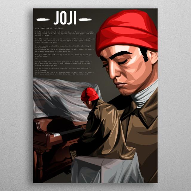 Singer Joji / George Miller on Vector art Style metal poster